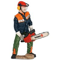 Schleich Forestry Worker with Chainsaw