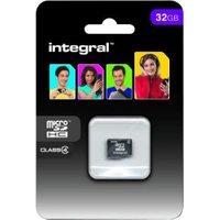 Integral microSDHC Card 32GB Class 4