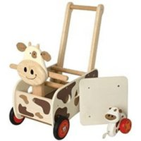 I'm Toy Walk & Ride Cow Push Wagon