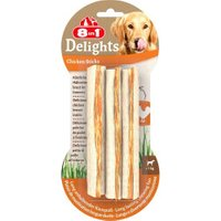 8in1 Delights Chicken Dog Chews (x3)