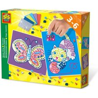 SES Creative Mosaic Cat and Butterfly Tiling Set