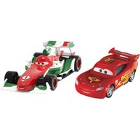 Mattel Disney Cars 2 - Francesco Bernoulli & Lightning McQueen with Party Wheels