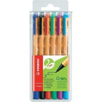 Stabilo Green Point Sign Pen Assorted Pack of 6