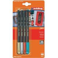edding Metallic Color Pen Set of 4 (E-1200/4)