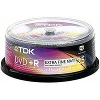 TDK DVD+R 4,7GB 120min 16x 25pk Spindle