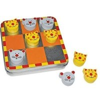 Small Foot Design Cat & Mouse Magnetic Travel Tin Tic Tac Toe