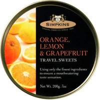 Simpkins Orange, Lemon & Grapefruit Travel Sweets (200 g)