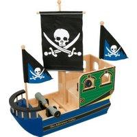 Small Foot Design Wooden Skull Pirate Ship