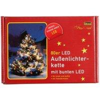 Idena 80 LED Fairy Lights Multicoloured (8325059)
