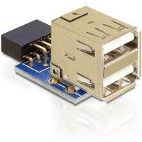 DeLock USB pin header female > 2 x USB 2.0 female - up (41825)