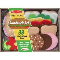 Melissa & Doug Felt Play Food - Sandwich Set