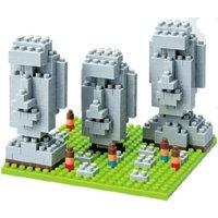 Kawada Nanoblock - Moai Statues on Easter Island