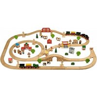 John Crane Tidlo Small World - Wooden Train Set (100 pieces)