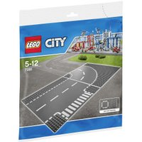 LEGO City T-Junction & Curved Road Plates (7281)