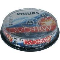 Philips DVD+RW 4,7GB 120min 4x 10pk Spindle