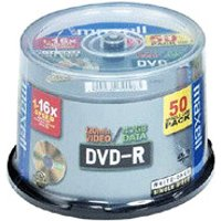 Maxell DVD-R 4.7GB 120min 16x printable 50pk Spindle