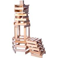 Vilac 200 Natural Wood Pieces Set