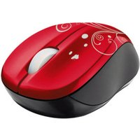 Trust Vivy Wireless Mini Mouse (red Swirls)