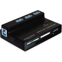 DeLock USB 3.0 Hub & Card Reader (91721)