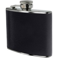 Premier Housewares Hip Flask with Leather Effect