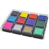 Eduplay 12 pigment stamp pads