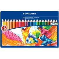 Staedtler Noris Club - Coloured Pencils in Tin Case, 36 pcs