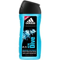 Adidas Ice Dive 2 in 1 Hair & Body Shower Gel (250ml)
