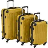 Hauptstadtkoffer 4-Wheel Hard Shell Trolley Set 3-Piece 55/63/75cm yellow