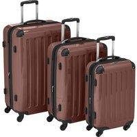 Hauptstadtkoffer Alex 4 Wheel Trolley-Set 55/65/75 cm TSA brown