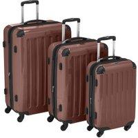 Hauptstadtkoffer 4-Wheel Hard Shell Trolley Set 3-Piece 55/63/75cm brown