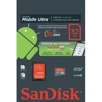 Sandisk Mobile Ultra Android microSDHC 32GB Class 10 UHS-I (SDSDQUA-032G)