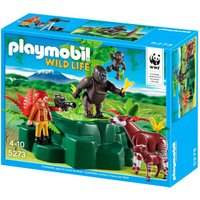 Playmobil Wild Life Gorillas and Okapi with Zoologist