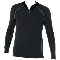 Schiesser Shirt Long Sleeve Zipper Thermo Plus Men's