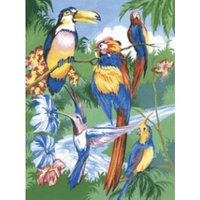 Royal & Langnickel Painting By Numbers Kit - Tropical Birds