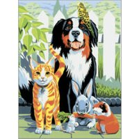 Royal & Langnickel 	Painting By Numbers Kit - Family Pets