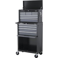 Sealey AP2513B Topchest & Rollcab Combination 13 Drawer with Ball Bearing Runners - Black/Grey
