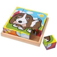 Small Foot Design Cube Puzzle with 6 Animal-Themed Motifs
