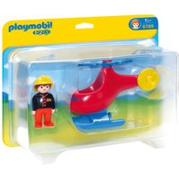 Playmobil Firefighter Helicopter 6789)