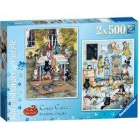 Ravensburger Crazy Cats Tea Time Treats (2 x 500 Pieces)