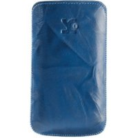 SunCase Leather Case Wash Blue (Samsung Galaxy Fame)