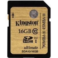Kingston SDHC 16GB Class 10 UHS-I (SDA10/16GB)