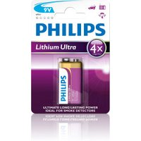 Philips 1x Lithium Ultra 6FR61 Batterie 9V