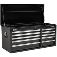 Sealey AP41110B Topchest 10 Drawer with Ball Bearing Runners Heavy-Duty - Black