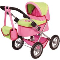 Bayer Design Doll's Pram pink/green (13045)