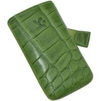 SunCase Leather Case Croco Green (Samsung Galaxy Ace)