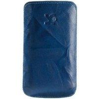 SunCase Blue Wash Leather Case (Sony Xperia E)