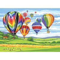 Reeves Large painting by Numbers - Hot Air Balloons