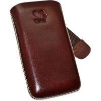 SunCase Leather Case Brown (Nokia Asha 308)