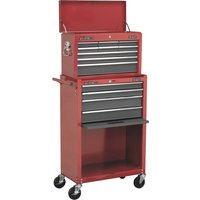 Sealey AP22513BB Topchest & Rollcab Combination 13 Drawer with Ball Bearing Runners - Red/Grey