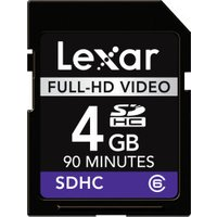 Lexar SDHC Full-HD Video 4GB Class 6 90 Min (LSD4GBFBEUHD)